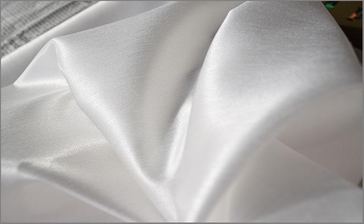 ウエディングドレス用生地 パレットサテン